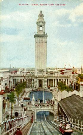 Postcard view of Chicago's White City Amusement Park.