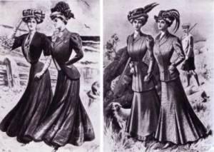 Women's suits 1900s