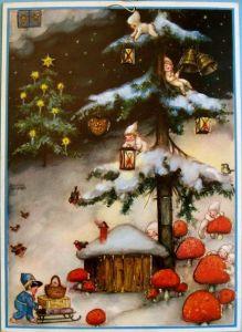 Advent calendar, early 1900s