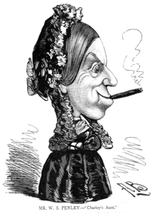 W. S. Penley as the original Charley's Aunt, by Alfred Bryan