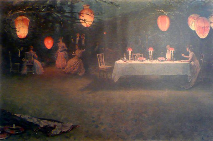 A Night in June, 1910. Thomas Cooper Gotch. Newlyn Archive, UK