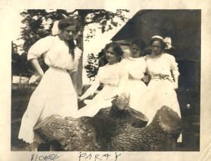 Jessie (L) and the Stump, June 1910