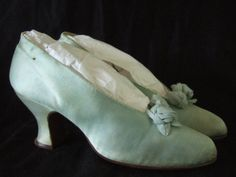 Satin evening shoes, 1910s