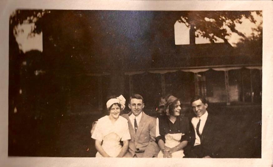 """""""Four little blackbirds sitting in a row"""" Jessie Latham, August 6, 1911"""