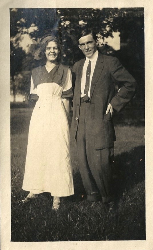 """""""Val and I."""" 8/6/1911"""