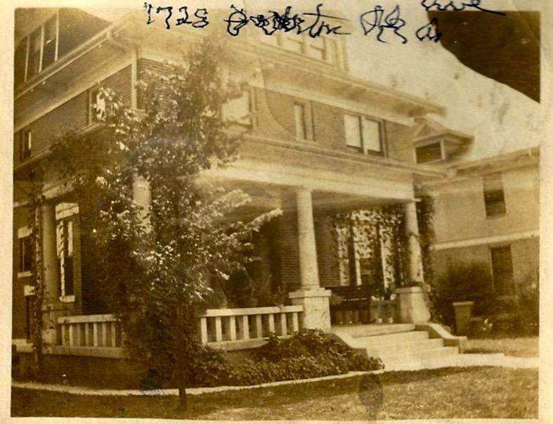 Latham's home on Overton Park Avenue, Memphis