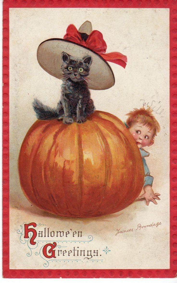 1911 Halloween Cat AG Vintage