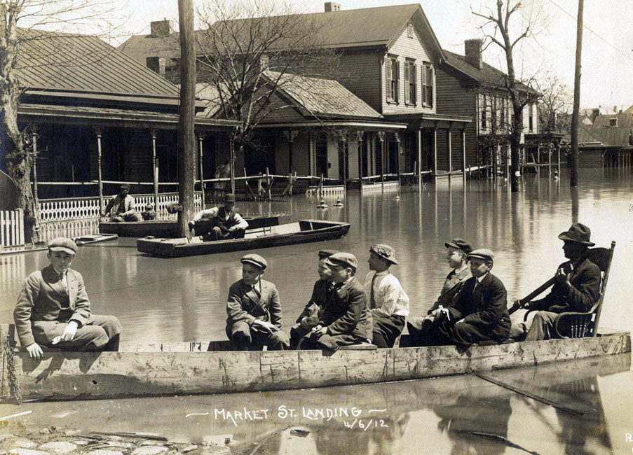 1912 Flood, Market St. in Memphis, J.C. Coovert, photographer