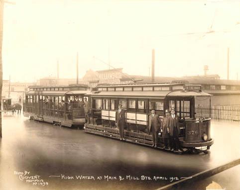 Main & Mill in Memphis, 1912. J.C. Coovert, photographer